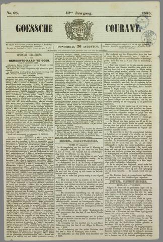 Goessche Courant 1855-08-30