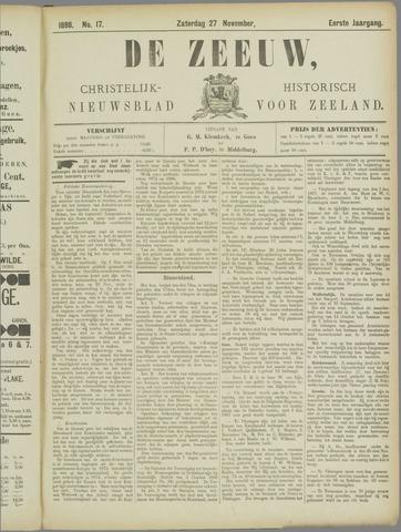 De Zeeuw. Christelijk-historisch nieuwsblad voor Zeeland 1886-11-27
