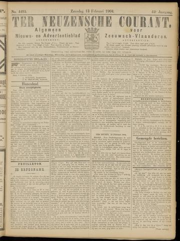 Ter Neuzensche Courant. Algemeen Nieuws- en Advertentieblad voor Zeeuwsch-Vlaanderen / Neuzensche Courant ... (idem) / (Algemeen) nieuws en advertentieblad voor Zeeuwsch-Vlaanderen 1904-02-13