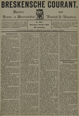 Breskensche Courant 1912-10-05