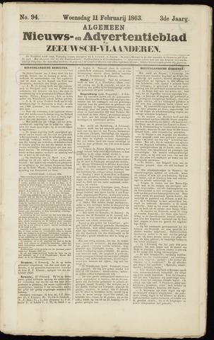 Ter Neuzensche Courant. Algemeen Nieuws- en Advertentieblad voor Zeeuwsch-Vlaanderen / Neuzensche Courant ... (idem) / (Algemeen) nieuws en advertentieblad voor Zeeuwsch-Vlaanderen 1863-02-11