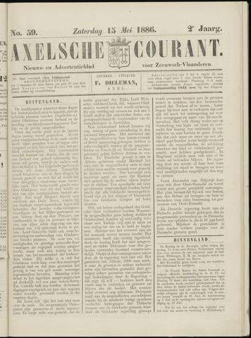Axelsche Courant 1886-05-15