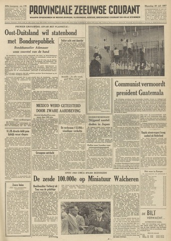 Provinciale Zeeuwse Courant 1957-07-29