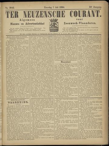 Ter Neuzensche Courant. Algemeen Nieuws- en Advertentieblad voor Zeeuwsch-Vlaanderen / Neuzensche Courant ... (idem) / (Algemeen) nieuws en advertentieblad voor Zeeuwsch-Vlaanderen 1894-07-07