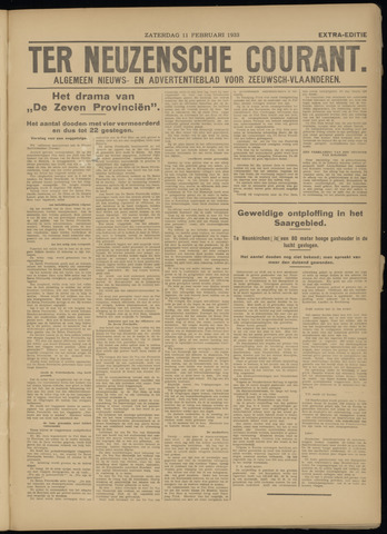 Ter Neuzensche Courant. Algemeen Nieuws- en Advertentieblad voor Zeeuwsch-Vlaanderen / Neuzensche Courant ... (idem) / (Algemeen) nieuws en advertentieblad voor Zeeuwsch-Vlaanderen 1933-02-11