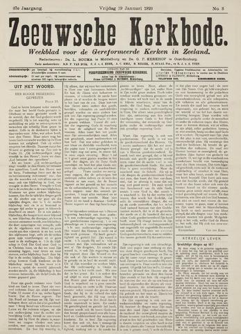 Zeeuwsche kerkbode, weekblad gewijd aan de belangen der gereformeerde kerken/ Zeeuwsch kerkblad 1923-01-19