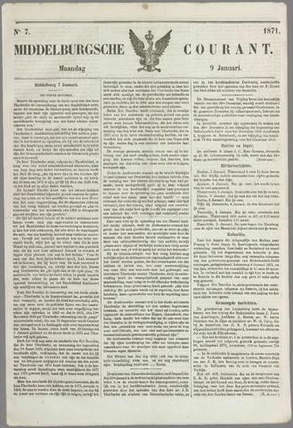 Middelburgsche Courant 1871-01-09