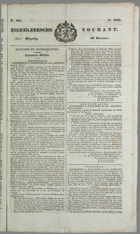 Zierikzeesche Courant 1824-12-30