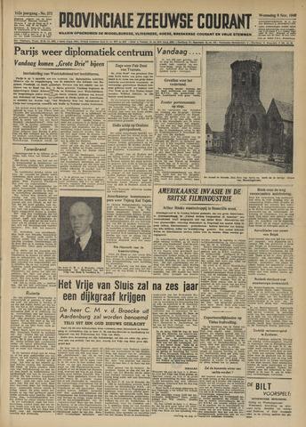Provinciale Zeeuwse Courant 1949-11-09