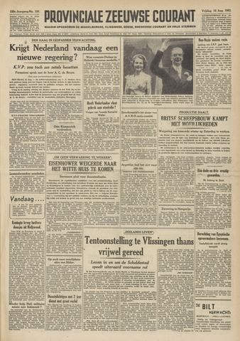 Provinciale Zeeuwse Courant 1952-08-15