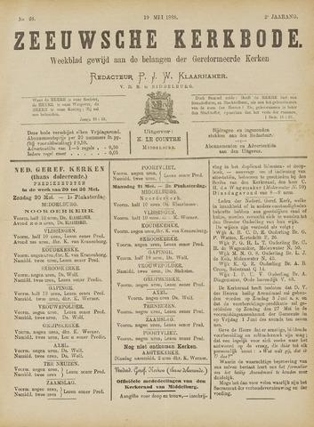 Zeeuwsche kerkbode, weekblad gewijd aan de belangen der gereformeerde kerken/ Zeeuwsch kerkblad 1888-05-19