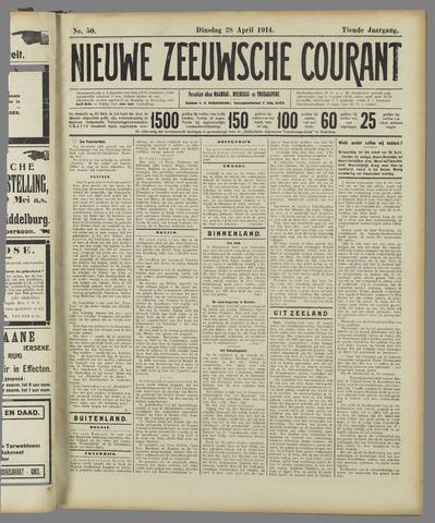 Nieuwe Zeeuwsche Courant 1914-04-28
