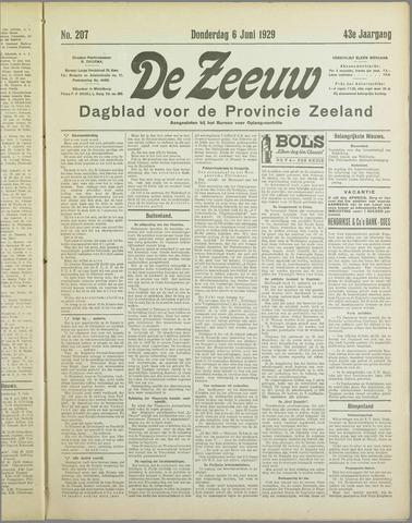 De Zeeuw. Christelijk-historisch nieuwsblad voor Zeeland 1929-06-06