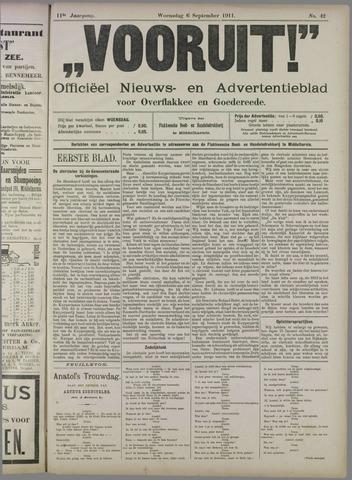 """""""Vooruit!""""Officieel Nieuws- en Advertentieblad voor Overflakkee en Goedereede 1911-09-06"""