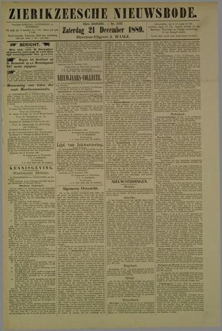 Zierikzeesche Nieuwsbode 1889-12-21