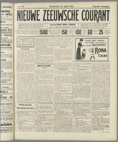 Nieuwe Zeeuwsche Courant 1913-04-24