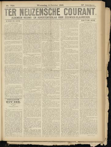 Ter Neuzensche Courant. Algemeen Nieuws- en Advertentieblad voor Zeeuwsch-Vlaanderen / Neuzensche Courant ... (idem) / (Algemeen) nieuws en advertentieblad voor Zeeuwsch-Vlaanderen 1923-10-31
