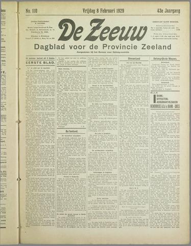 De Zeeuw. Christelijk-historisch nieuwsblad voor Zeeland 1929-02-08