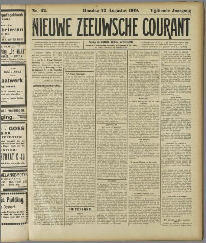 Nieuwe Zeeuwsche Courant 1919-08-12