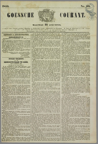 Goessche Courant 1853-08-15