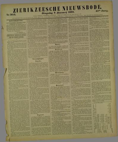 Zierikzeesche Nieuwsbode 1889-01-08