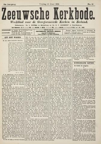 Zeeuwsche kerkbode, weekblad gewijd aan de belangen der gereformeerde kerken/ Zeeuwsch kerkblad 1918-06-21