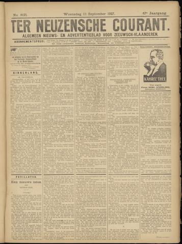 Ter Neuzensche Courant. Algemeen Nieuws- en Advertentieblad voor Zeeuwsch-Vlaanderen / Neuzensche Courant ... (idem) / (Algemeen) nieuws en advertentieblad voor Zeeuwsch-Vlaanderen 1927-09-21