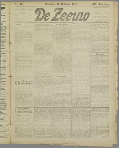 De Zeeuw. Christelijk-historisch nieuwsblad voor Zeeland 1917-10-15
