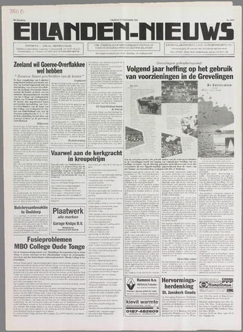 Eilanden-nieuws. Christelijk streekblad op gereformeerde grondslag 1995-10-13
