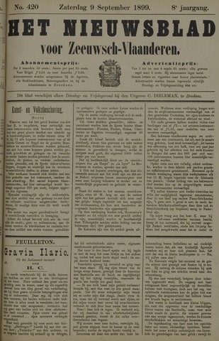 Nieuwsblad voor Zeeuwsch-Vlaanderen 1899-09-09