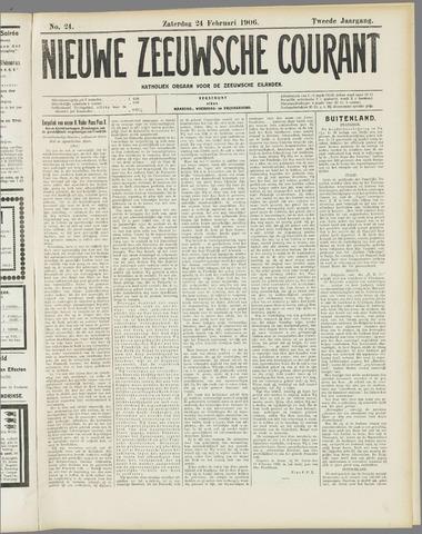 Nieuwe Zeeuwsche Courant 1906-02-24