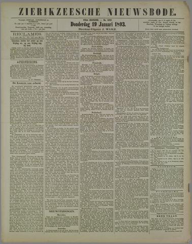 Zierikzeesche Nieuwsbode 1893-01-19
