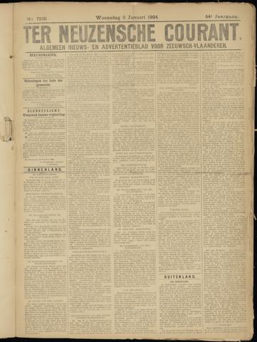 Ter Neuzensche Courant. Algemeen Nieuws- en Advertentieblad voor Zeeuwsch-Vlaanderen / Neuzensche Courant ... (idem) / (Algemeen) nieuws en advertentieblad voor Zeeuwsch-Vlaanderen 1924-01-02
