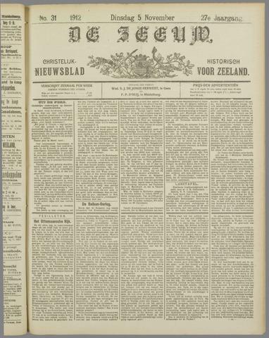 De Zeeuw. Christelijk-historisch nieuwsblad voor Zeeland 1912-11-05