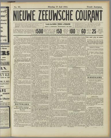 Nieuwe Zeeuwsche Courant 1914-07-28
