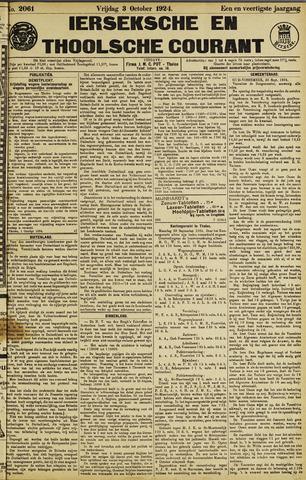 Ierseksche en Thoolsche Courant 1924-10-03