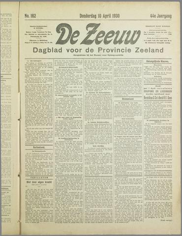 De Zeeuw. Christelijk-historisch nieuwsblad voor Zeeland 1930-04-10