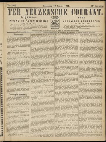 Ter Neuzensche Courant. Algemeen Nieuws- en Advertentieblad voor Zeeuwsch-Vlaanderen / Neuzensche Courant ... (idem) / (Algemeen) nieuws en advertentieblad voor Zeeuwsch-Vlaanderen 1911-01-19