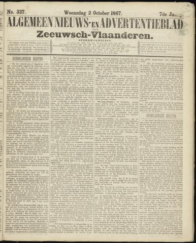 Ter Neuzensche Courant. Algemeen Nieuws- en Advertentieblad voor Zeeuwsch-Vlaanderen / Neuzensche Courant ... (idem) / (Algemeen) nieuws en advertentieblad voor Zeeuwsch-Vlaanderen 1867-10-02
