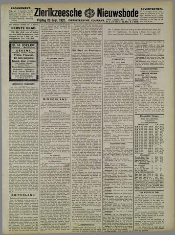 Zierikzeesche Nieuwsbode 1921-09-23