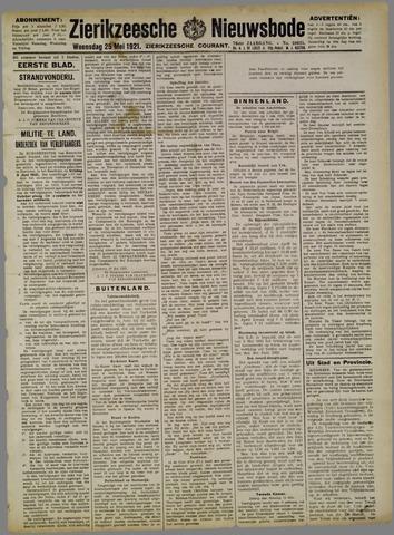 Zierikzeesche Nieuwsbode 1921-05-25