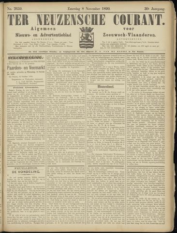 Ter Neuzensche Courant. Algemeen Nieuws- en Advertentieblad voor Zeeuwsch-Vlaanderen / Neuzensche Courant ... (idem) / (Algemeen) nieuws en advertentieblad voor Zeeuwsch-Vlaanderen 1890-11-08