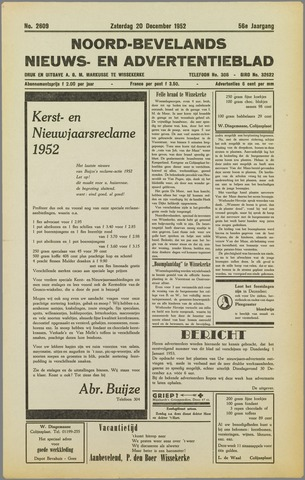 Noord-Bevelands Nieuws- en advertentieblad 1952-12-20