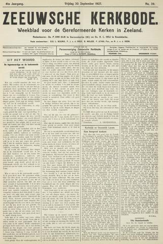 Zeeuwsche kerkbode, weekblad gewijd aan de belangen der gereformeerde kerken/ Zeeuwsch kerkblad 1927-09-30