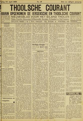 Ierseksche en Thoolsche Courant 1936-04-24