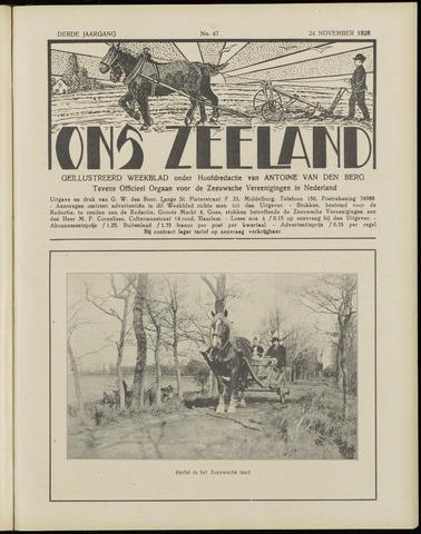 Ons Zeeland / Zeeuwsche editie 1928-11-24
