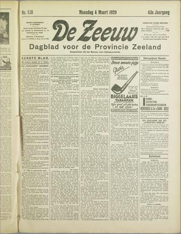 De Zeeuw. Christelijk-historisch nieuwsblad voor Zeeland 1929-03-04