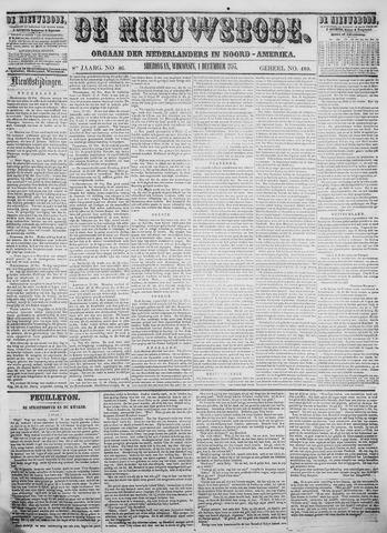 Sheboygan Nieuwsbode 1857-12-01
