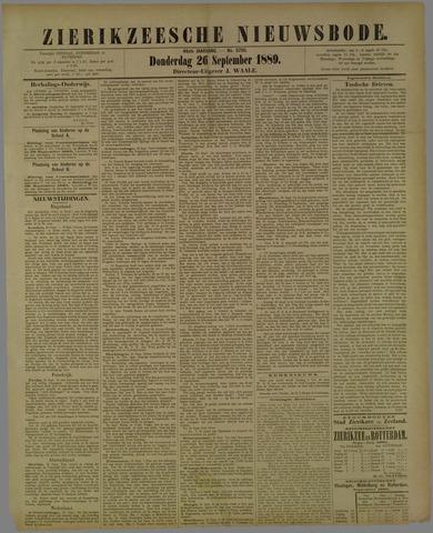 Zierikzeesche Nieuwsbode 1889-09-26