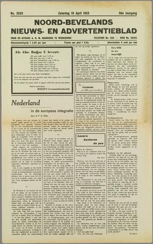 Noord-Bevelands Nieuws- en advertentieblad 1953-04-18